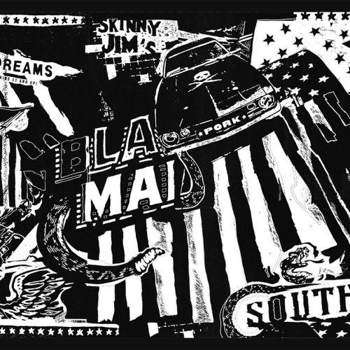 Black & White Mural By Chris Ede Illustrator