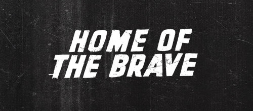 Home of the brave lettering art