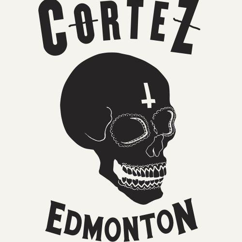 Black and white El Cortez skull