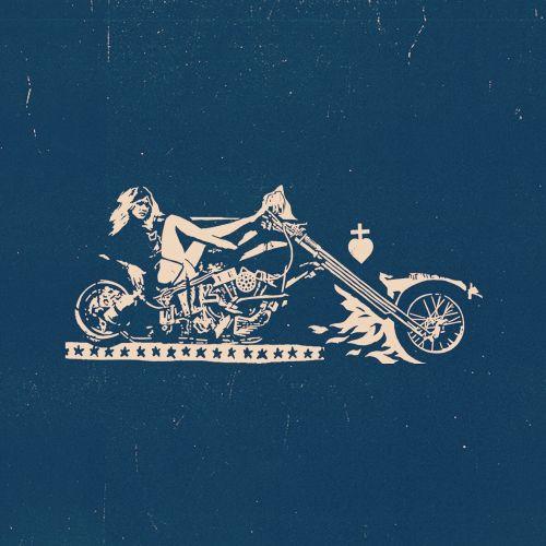 editorial illustration of bike rider cowboy style
