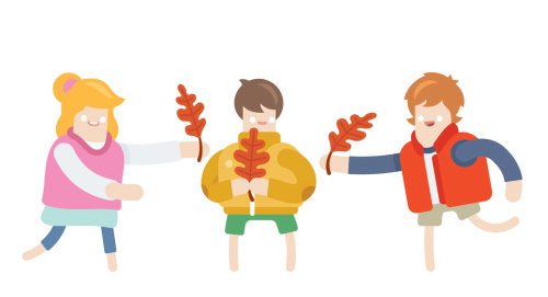 Juegos infantiles ilustrados por Chris para la revista Rewe