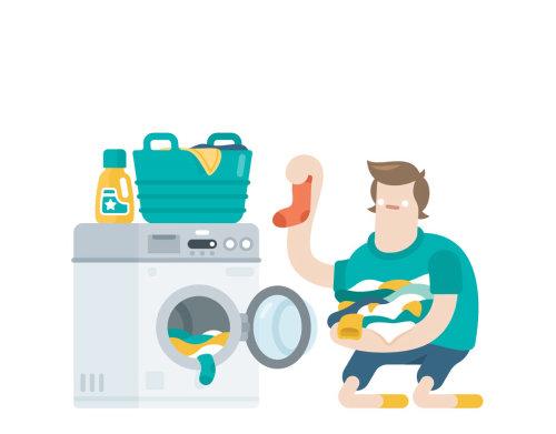 Ilustración de la lavandería