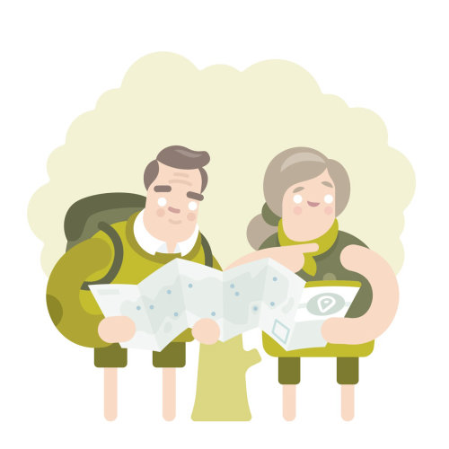 pareja fue para vacaciones ilustración vectorial