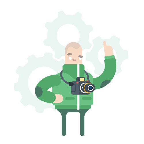 Illustration graphique du personnage du Musée des sciences