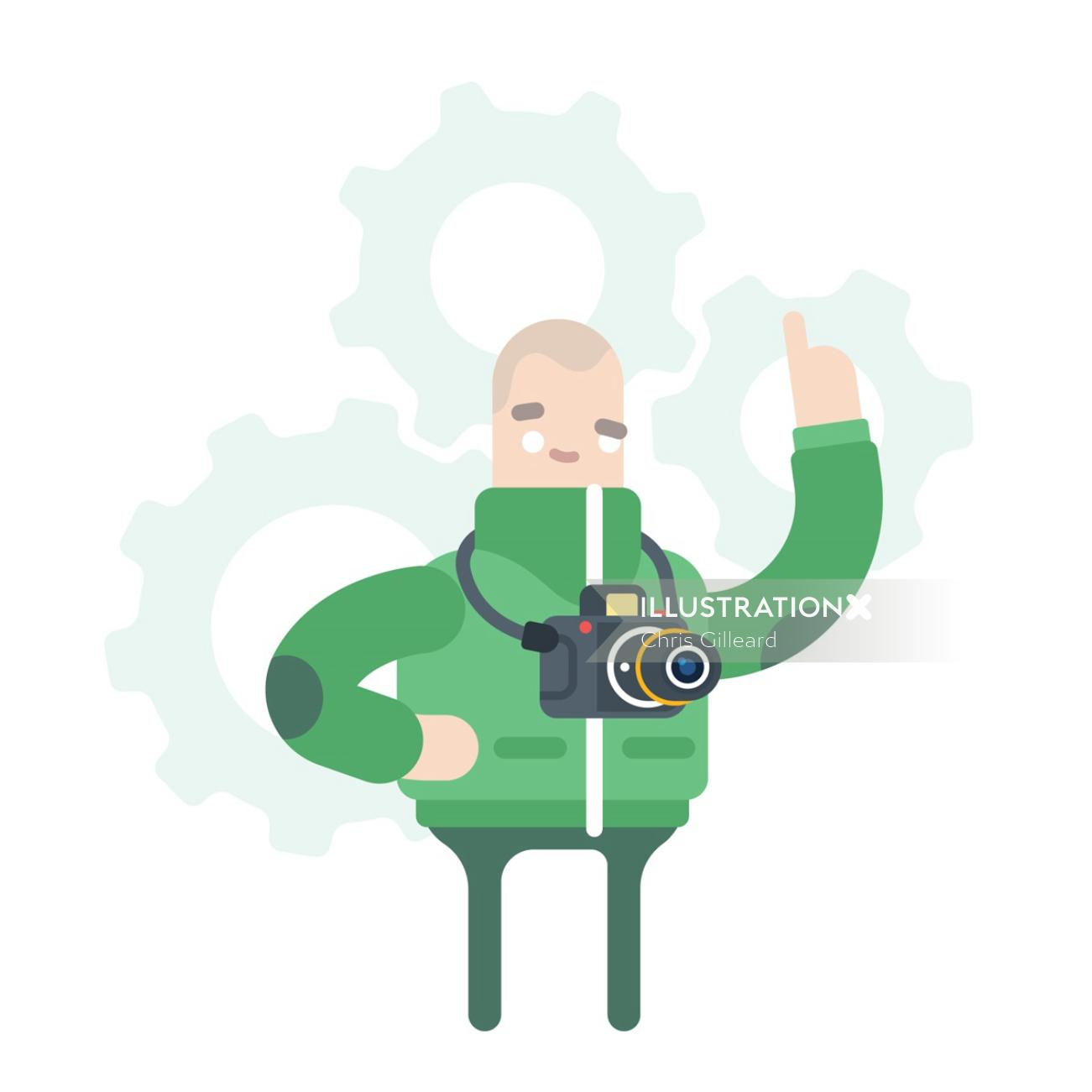 Science Museum Character graphic illustration