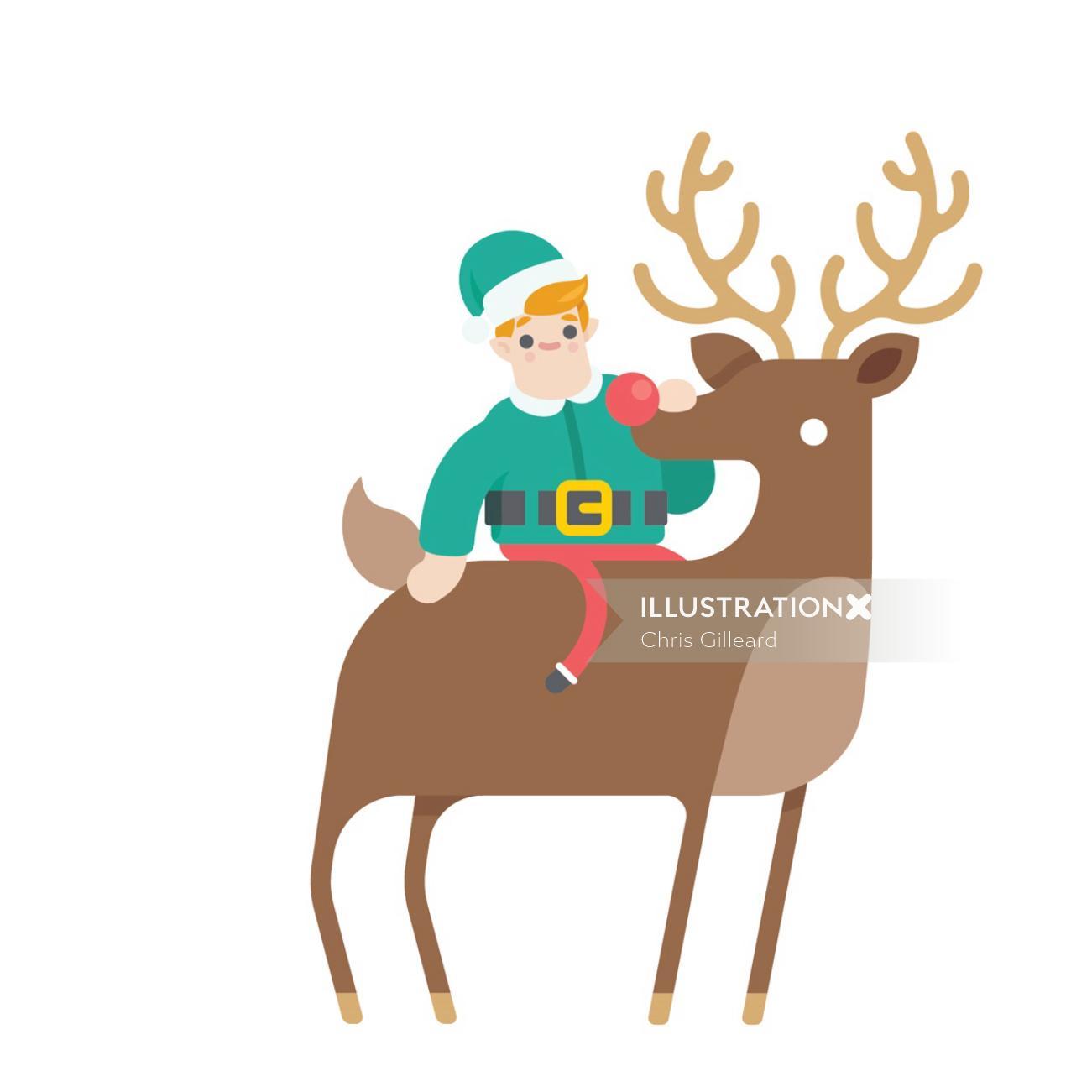 Luton Airport Elf Christmas character
