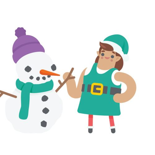 vector illustration of Christmas character