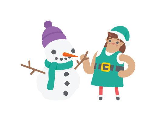 illustration vectorielle du personnage de Noël