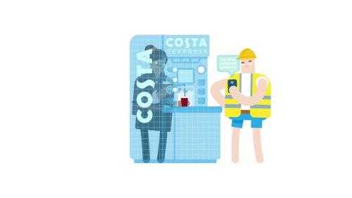 Animación de café express Costa