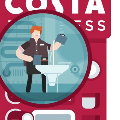 Costa Coffee social media animation