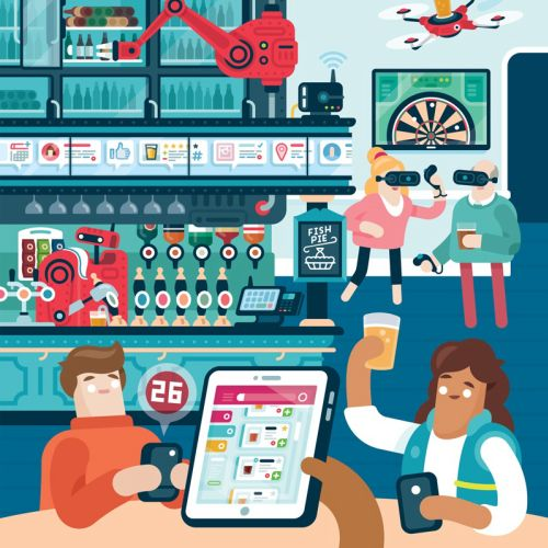 Editorial illustration for a magazine's food-drink section