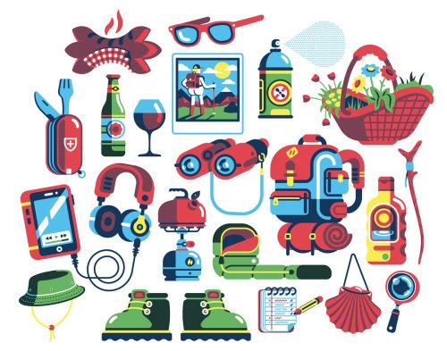 editorial de puntos de guía de senderismo suizo
