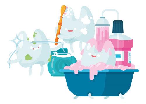 Ilustración de dibujos animados de diente