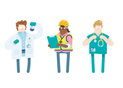 Different type of jobs vector illustration