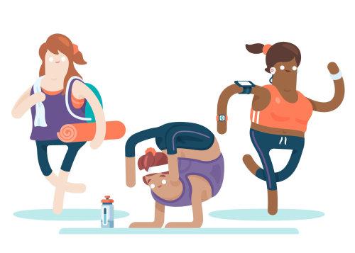 ejercicio para mantenerse en forma ilustración de Chris Gilleard