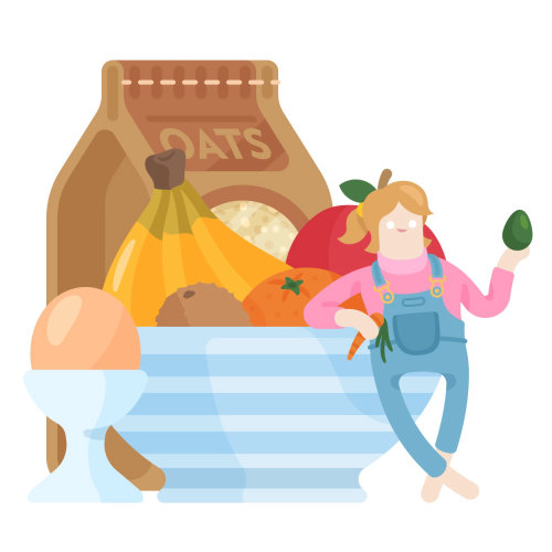 healthy eating lifestyle illustration