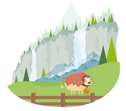Ilustración de naturaleza de Migros Swiss Valley