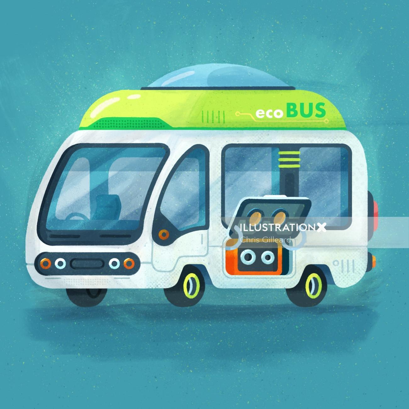conceptual illustration of Eco bus