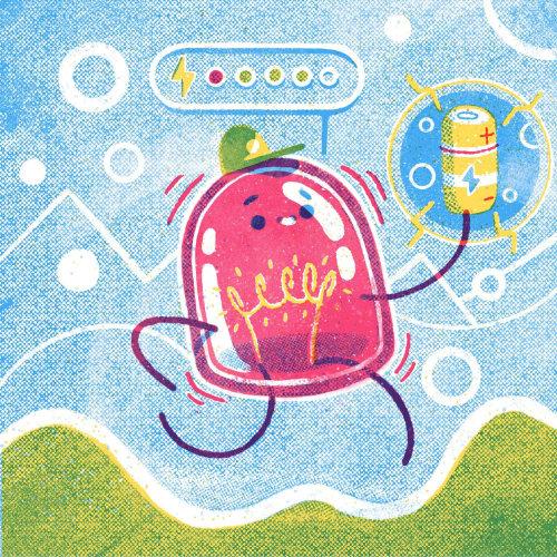 LED Character illustration