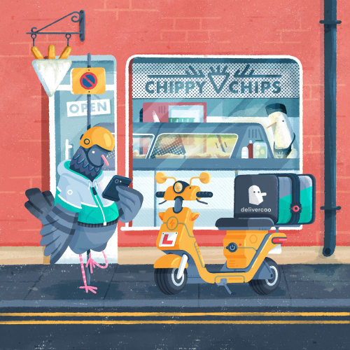 Ilustración de dibujos animados de paloma mensajera