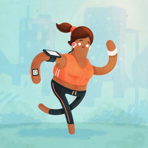 Jogger illustration