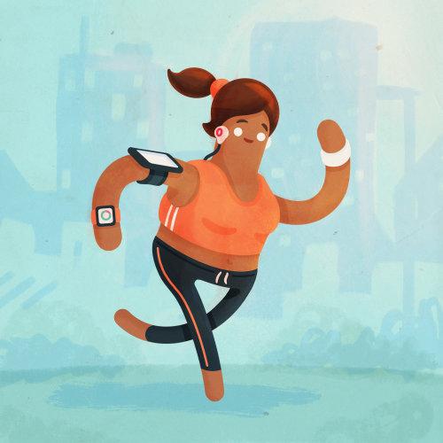 Jogger illustration