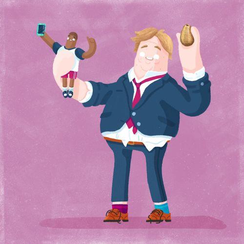 Jack & The Beanstalk cartoon and humour illustration