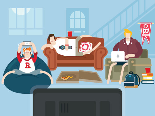 Cartoon Rogers College Internet Package graphic