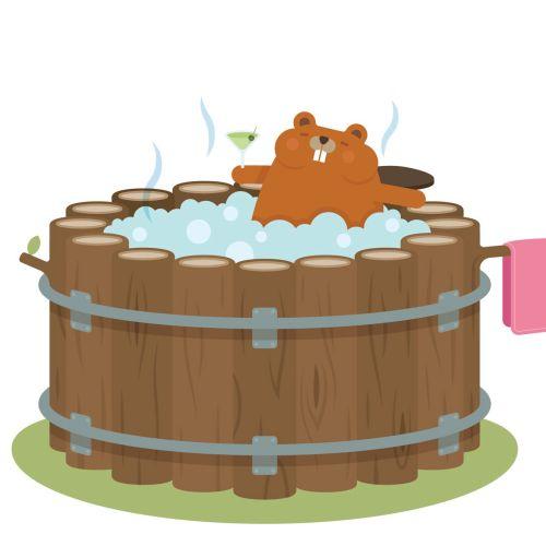 An illustration of hot tub