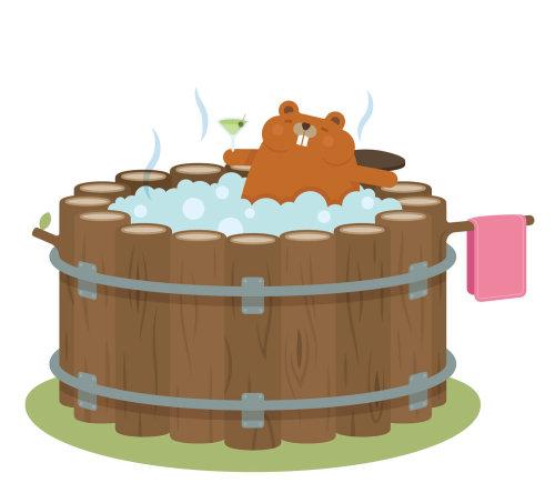 Une illustration du bain à remous