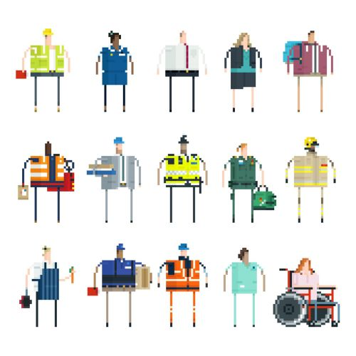 vector illustration of british jobs
