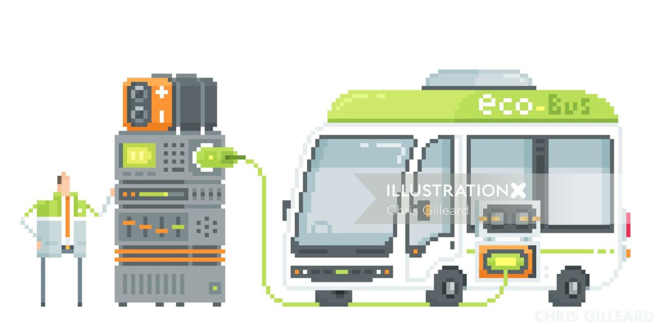 An illustration of Eco bus
