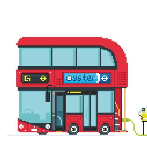 An illustration of London bus