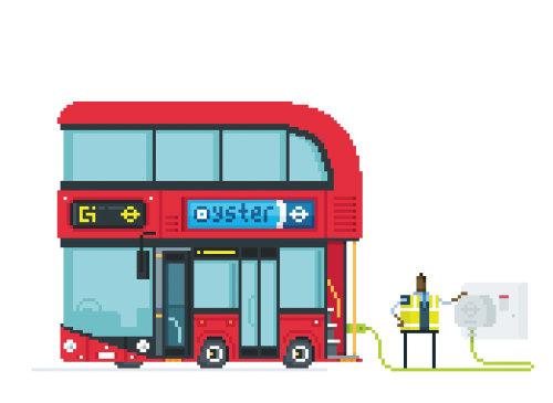 Una ilustración del autobús de Londres
