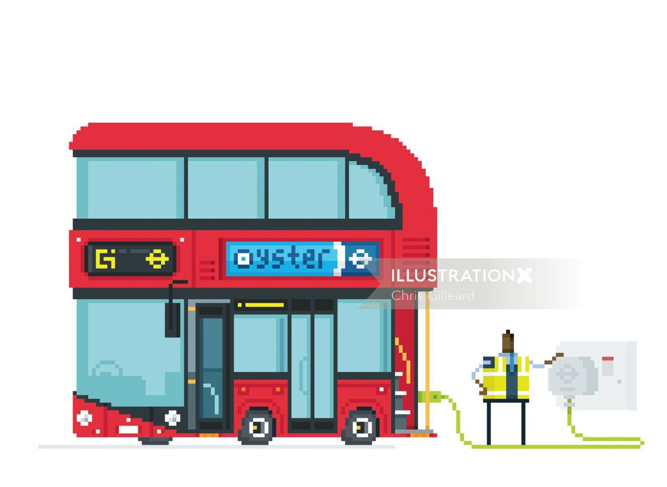 An illustration of London bus