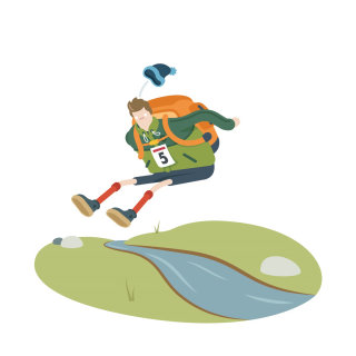 An illustration of hiking olympics