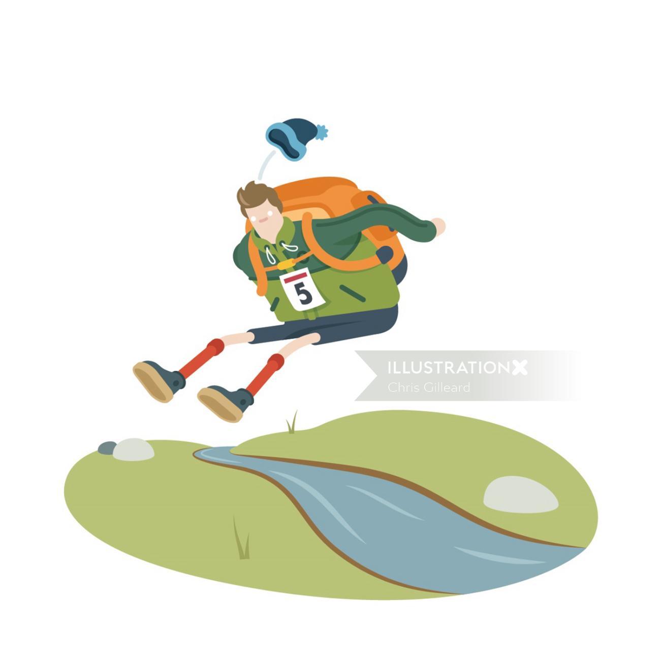 An illustration of hiking olympics