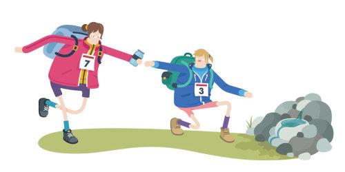 Una ilustración de los Juegos Olímpicos.