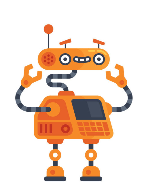 An illustration of coding Robot