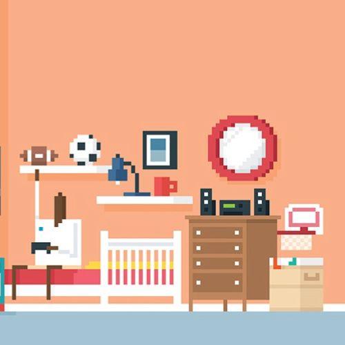 An illustration of bedroom