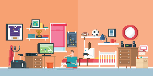 An illustration of bedroom