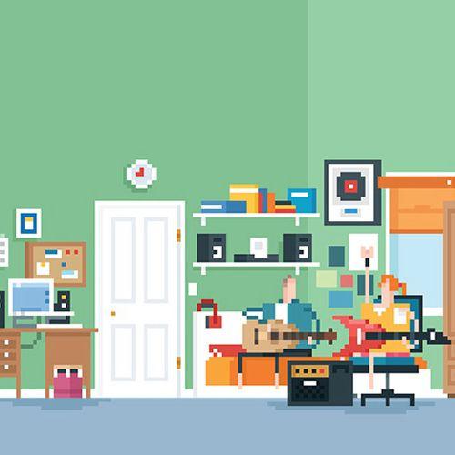 Architecture homes Bedroom scene