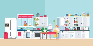 An illustration of kitchen