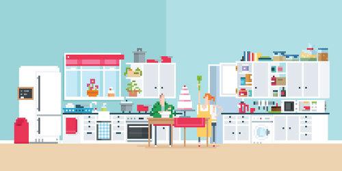 Una ilustración de cocina