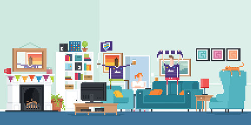 An illustration of living room