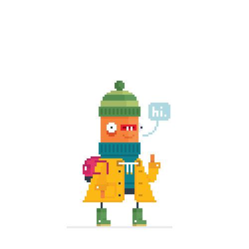Ilustración de un personaje de libro infantil