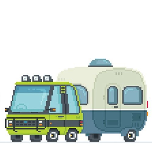 An illustration of truck