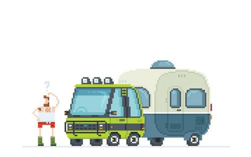 Une illustration de camion