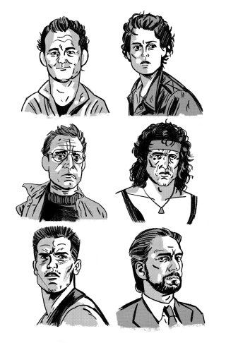 portraits of VHS heroes