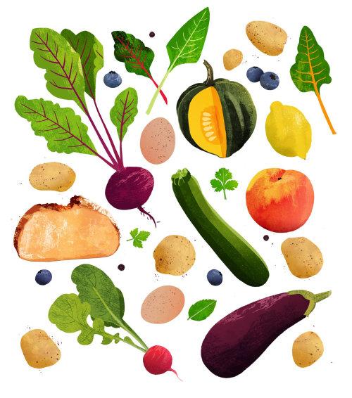 collage de alimentos gloriosos